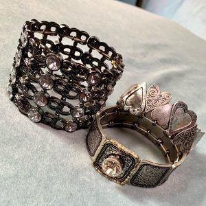 ⭐️2 for $10 3 Fashion Stretch Cuff Bracelets